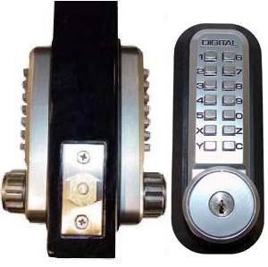 Lockey Keyless Mechanical Digital Door Lock Oversized Door Knob OSK20