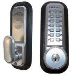 Lockey 2435KO Mechanical Digital Spring Latch Door Lock With Key Override