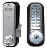 Lockey 2500KO Mechanical Digital Sliding Door Lock With Key Override