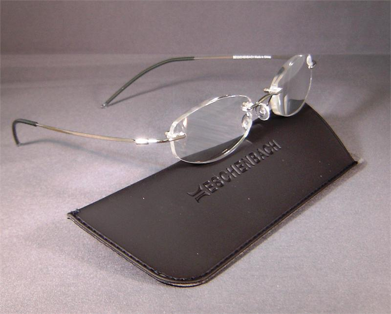 Eschenbach 2912-10 Rimless Reading Glasses 1.0 Diopter Oval GOLD
