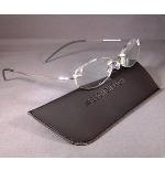 Eschenbach 2912-20 Rimless Reading Glasses 2.0 Diopter Oval GUN METAL