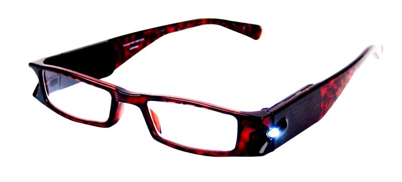Eschenbach Illuminated Reading Glasses LightSpecs 1.5 Diopter Tortoise Frame