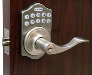 Lockey E Digital Keyless Electronic Lever Door Lock with Remote