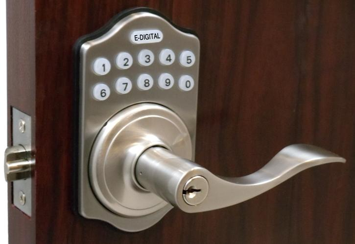 Lockey E Digital Keyless Electronic Lever Door Lock With