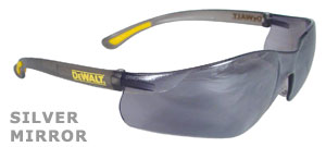 DeWalt Safety Glasses Contractor Pro Silver Mirror Lens DPG52-6