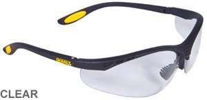 DeWalt Bifocal Reading Safety Glasses Reinforcer Rx Clear Lens 1.0  DPG59-110D