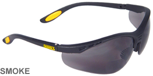 DeWalt Bifocal Reading Safety Glasses Reinforcer Rx Smoke Lens 1.5  DPG59-215D