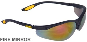 DeWalt Safety Glasses Reinforcer Fire Mirror Lens  DPG58-6D