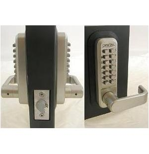 Lockey 2835DC Keyless Mechanical Digital Double Sided Combination Spring Latch Door Lock
