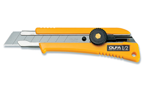 OLFA Cutter Heavy Duty With Rubber Grip L-2 Model 5004