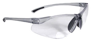 Radians Bifocal Reading Safety Glasses C2 Rx Clear Lens 1.0 Model C2-110