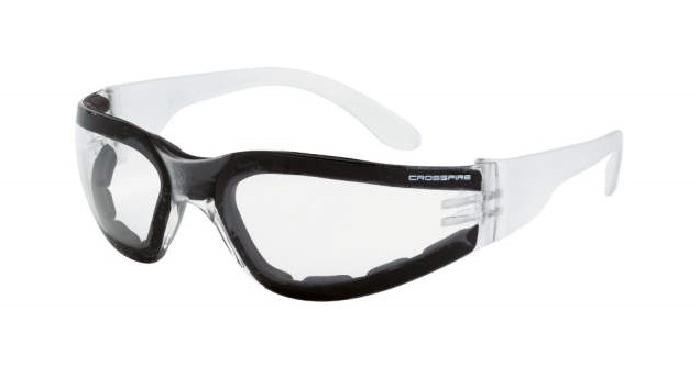 Crossfire Safety Glasses Shield 554 AF Foam LIned