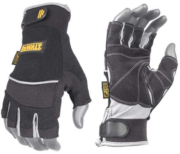 DeWalt DPG230 Gloves Fingerless Technicians Synthetic Leather
