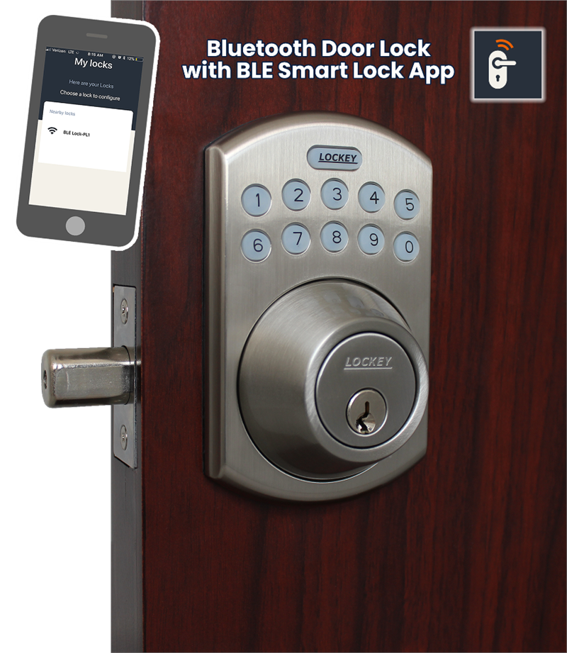 Lockey EB915 Electronic Bluetooth Keypad Deadbolt Door Lock