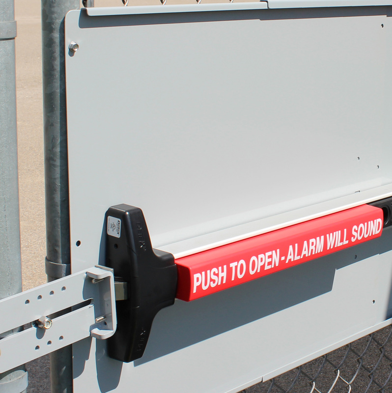 Panic Bar Mounting Plate For Chain Link Fence Gates Panic