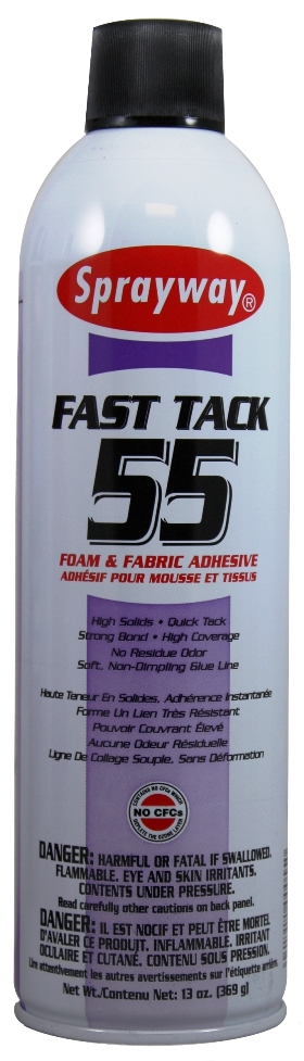 Spray Adhesive Sprayway SW055 Fast Tack Foam & Fabric Adhesive