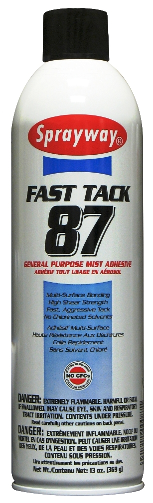 Spray Adhesive Sprayway SW087 Fast Tack General Purpose Mist Adhesive