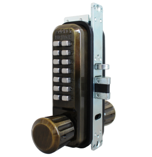 Lockey 2930DC Keyless Mechanical Digital Adams Rite Style Latch Double Sided Door Lock