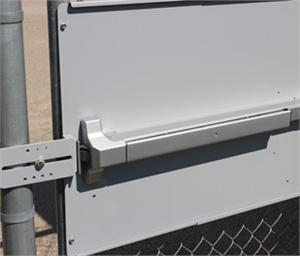 Panic Bar Mounting Plate For Chain Link Fence Gates Panic