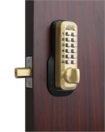 Lockey M210 Satin Brass Outside
