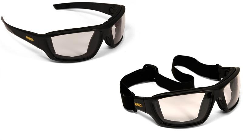 DeWalt Safety Goggles Glasses Converter Indoor/Outdoor Anti-Fog Lens DPG83-91