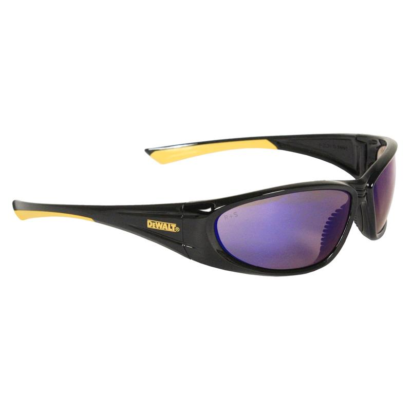DeWalt Safety Glasses Gable Blue Mirror Lens DPG98-7