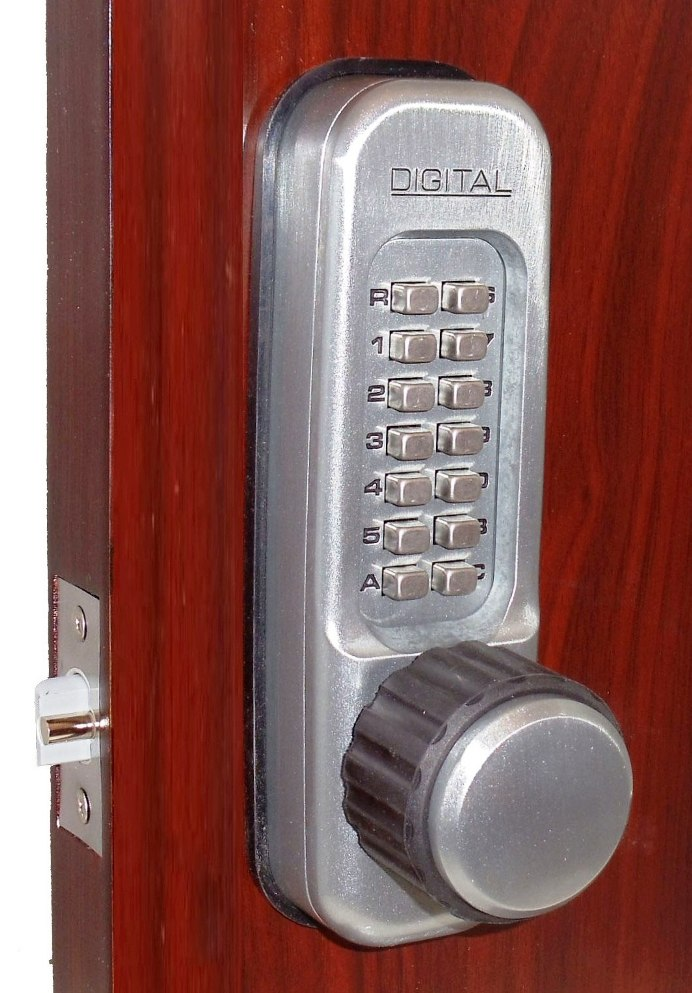 Lockey 1600 MG Keyless Mechanical Digital Spring Latch Door Lock