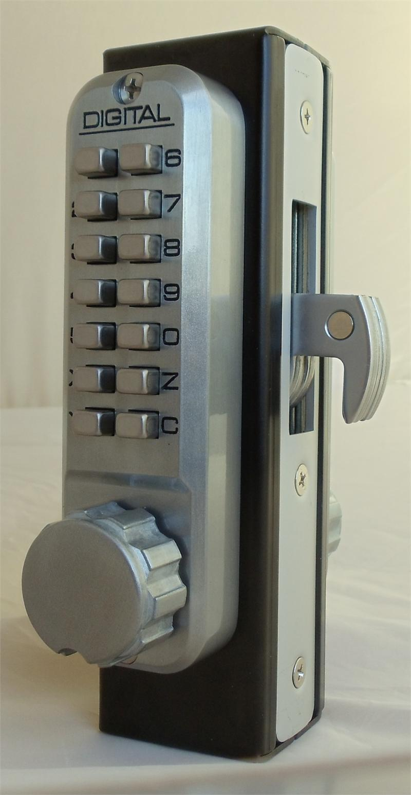 Lockey 2950DC MG Keyless Mechanical Digital Mortised Hook Bolt Double Sided.
