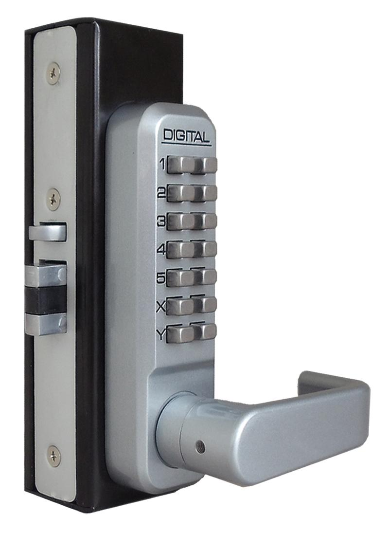 Lockey 2985 MG Keyless Mechanical Digital Adams Rite Style Latch Door Lock