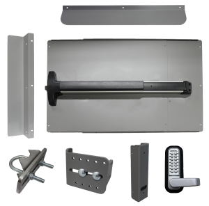 Lockey ED-62 EDGE Security Panic Shield Kit With Detex V-40 Panic Bar