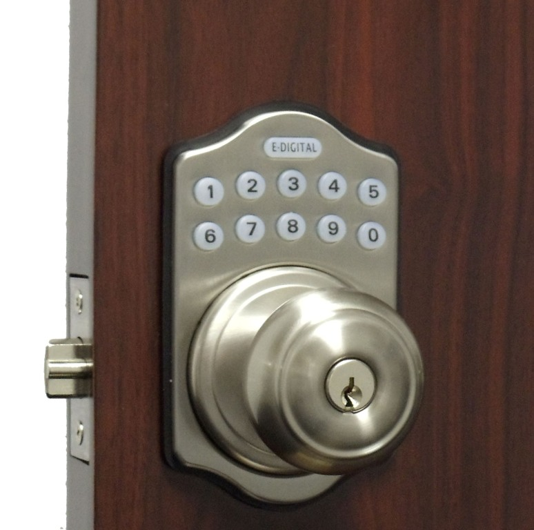 Lockey E Digital Keyless Electronic Knob Door Lock with Remote
