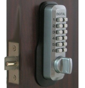 Lockey M230DC Keyless Mechanical Digital Double Sided Springlatch Door Lock