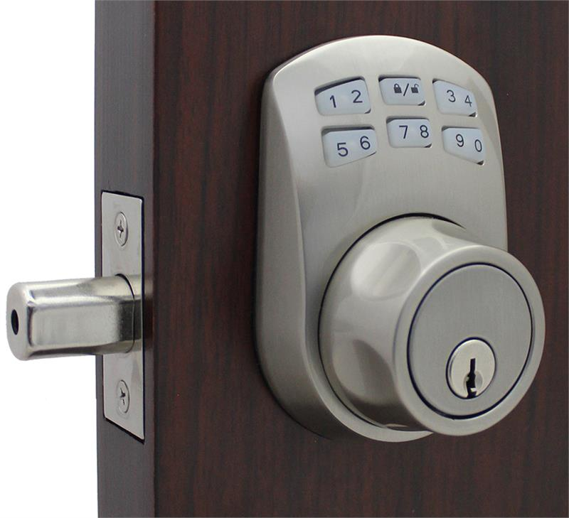 Lockey SL910 Slim Line Keyless Electronic/Mechanical Deadbolt  sc 1 st  AAA Industrial Supply : electronic door - pezcame.com