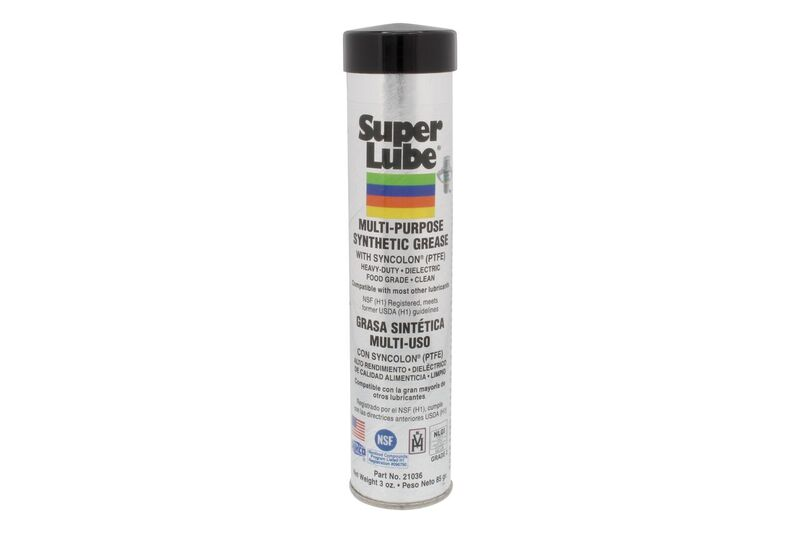 Super Lube Synthetic Grease With PTFE Teflon 21036 3oz Cartridge