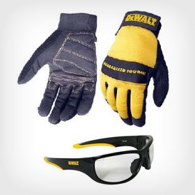 DeWalt Gloves & Safety Glasses